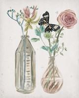 Butterflies & Flowers III Framed Print
