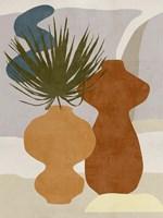 Decorated Vases I Framed Print