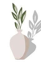 Vase & Stem V Framed Print