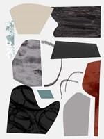 Underground Shapes V Framed Print