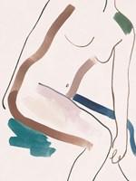 Seated Female Figure III Framed Print