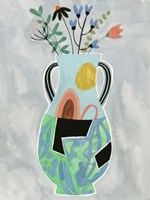 Collage Vase I Framed Print