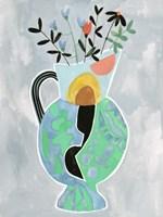 Collage Vase II Framed Print