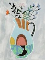 Collage Vase III Framed Print