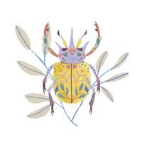 Floral Beetles I Framed Print