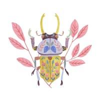 Floral Beetles II Framed Print
