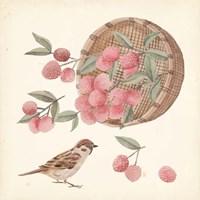 Basket with Fruit I Framed Print