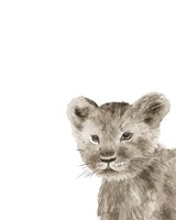 Safari Animal Portraits I Framed Print