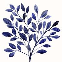 Deep Blue Branch I Framed Print