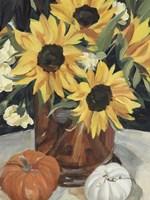 Sunflower Vase I Framed Print