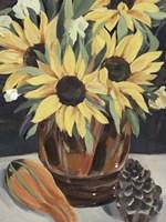 Sunflower Vase II Framed Print