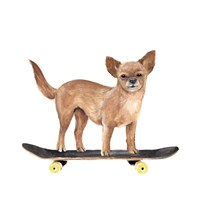 Pups on Wheels I Framed Print