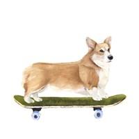 Pups on Wheels III Fine Art Print