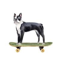 Pups on Wheels IV Framed Print