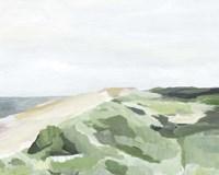 Coastline Greenery II Framed Print