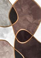 Velvet Shapes 3 Framed Print