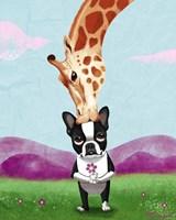 Giraffe Kisses Fine Art Print