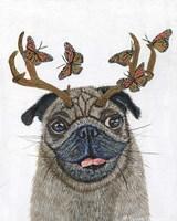 Pug With a Big Rack Fine Art Print