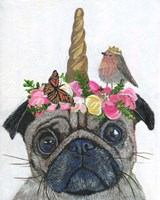 Unicorn Pug Fine Art Print