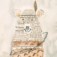 Native Bear Framed Print