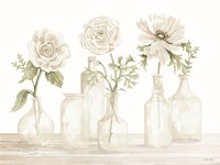 Bottles and Flowers I Framed Print
