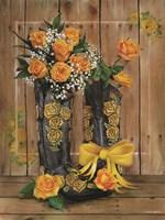 Rosey Cowboy Boots II Framed Print