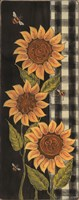 Farmhouse Sunflowers I Framed Print