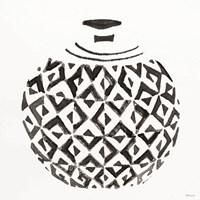 Tile Vase 4 Framed Print