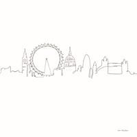 One Line London Framed Print