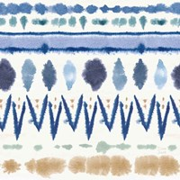 Indigo Splash Pattern VIII Framed Print
