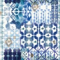 Indigo Splash Pattern V Framed Print