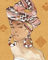 African Flair VI Warm Framed Print
