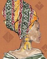 African Flair V Warm Framed Print