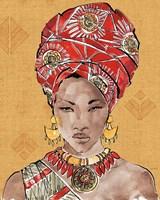 African Flair IV Warm Framed Print