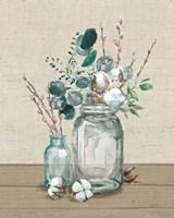 Cotton Bouquet II No Pattern Framed Print