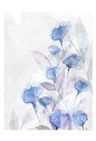 Modern Poppies 2 Blue Framed Print
