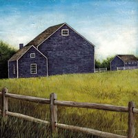 Weathered Barns Navy Fine Art Print