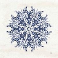 Bohemian Vibes VII Mandala Blue Framed Print