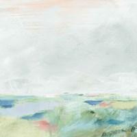 Blue Horizon Sq II Framed Print