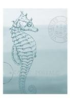 Seaside Card 3 V2 Framed Print
