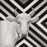 January Cow I Framed Print