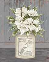 Floral Mason Fruit Jar Fine Art Print
