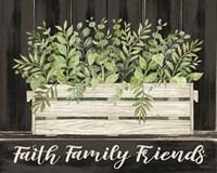Faith, Family, Friends Framed Print