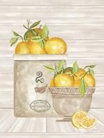 Lemon Crock and Bowl Fine Art Print