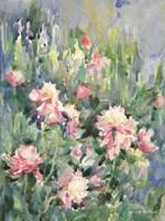 Watercolor Garden of Roses Framed Print