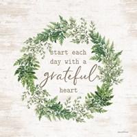 Grateful Heart Wreath Fine Art Print