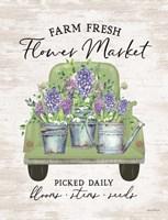 Flower Market - Hyacinths Framed Print