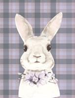 Plaid Bunny Floral Fine Art Print