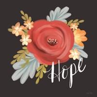 Hope Floral Framed Print