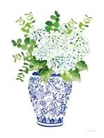 Chinoiserie Hydrangea I Fine Art Print